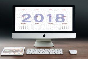 Kalender 2018 mit Feiertagen für frühzeitige Urlaubsplanung