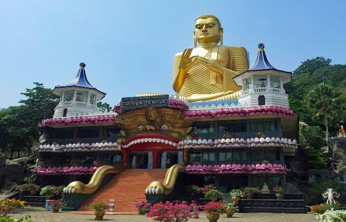 Bild vom Höhlentempel Dambulla Tempel.